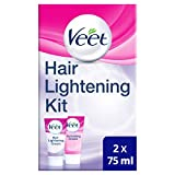 Veet Veet Hair Lightening Cream per viso e corpo, 2 x 75 ml x
