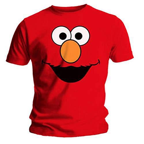 T-Shirt Sesame Street Elmos Face, Gr. Large (Herstellergröße: Large), rot ()