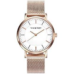 Viceroy Reloj Analogico para Mujer de Cuarzo con Correa en Acero Inoxidable 42320-07
