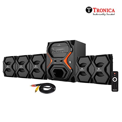 Tronica Republic Series 5.1 Bluetooth Home Theater with FM/AUX/USB/SD Card Support and Remote Control (Black)