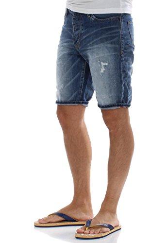 Superdry Biker, Pantaloncini Uomo Blau