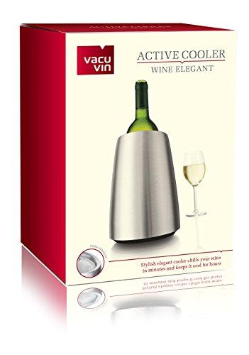 41JtBrnU5wL - Vacu Vin - 3649360 - Aktiv Weinkühler Elegant Edelstahl