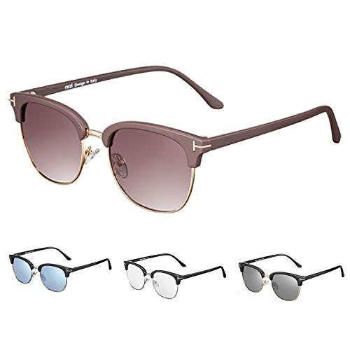 rezi rezi Computer Brille, Optics Brille Damen Herren, HD Gaming Brille - Blaulichtfilter, Anti-Erschöpfung, Blendschutz, UV400 Schutzbrille, Vintage Rechteckiger Rahmen