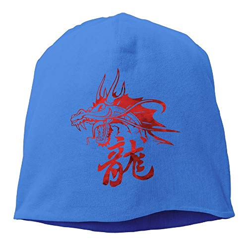 258253374ab ZZMM Fashion Solid Color Dragon - Asian - Tattoo - Fantasy Head Cap for  Unisex White
