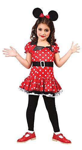 Prinzessin Maus Kostüm Minnie - süße Comic Maus - Kostüm für Mädchen Gr. 98 - 146, Größe:110/116