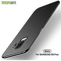 Funda Samsung Galaxy S9 Plus, Carcasa Samsung Galaxy S9 Plus [con Protector de Pantalla de Vidrio Templado ] Alta Calidad Ultra Slim Anti-Rasguño y Resistente Huellas Dactilares Totalmente Cover Case-Negro