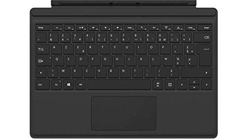 Microsoft - Signature Type Cover pour Surface Pro - clavier compatible Surface Pro 3/4/5/6/7 (rétroéclairage LED, pavé tactile en verre) - Noir (FMM-00004)