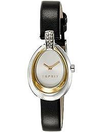 Esprit Damen-Armbanduhr ES-ELISE BLACK Analog Quarz Leder ES108672002