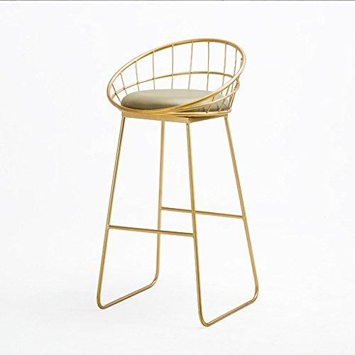 Anyer Lron Art Chaise Restaurant Bar Chaise Café Front Desk Chaise Bar Haute Tabouret Casual Chaise De Bureau Trois Couleurs en Option 50 * 95 Cm,C