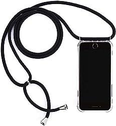 Mediatech Handykette kompatibel mit iPhone 7/8 - Handy-Kette Handyhülle mit Band Handy Hülle mit Kordel zum Umhängen Halsband Necklace Handyanhänger Band Case Cover (Transparent 4.7 Bumper)