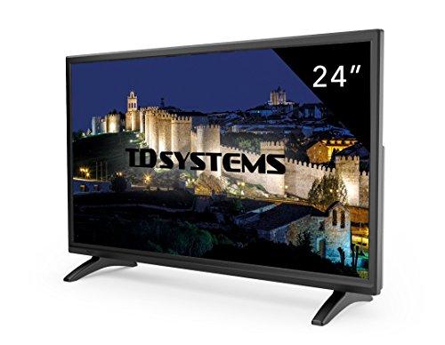 TD Systems K24DLM7F - Televisores Led 24' (Resolución Full HD, HDMI, VGA, USB Reproductor y Grabador. Tv Led TDT HD DVB-T2)