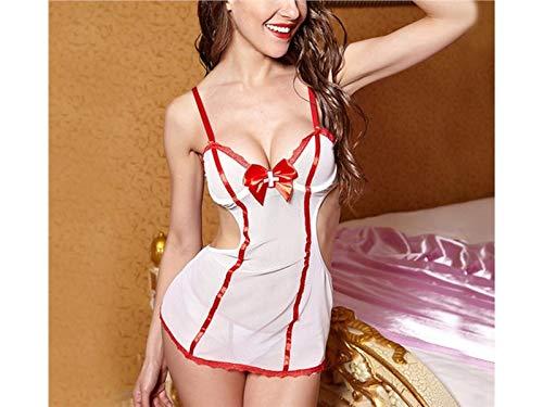 FERFERFERWON Liebe Kostüm Krankenschwester Uniform, Halloween Verkleidung Sexy -
