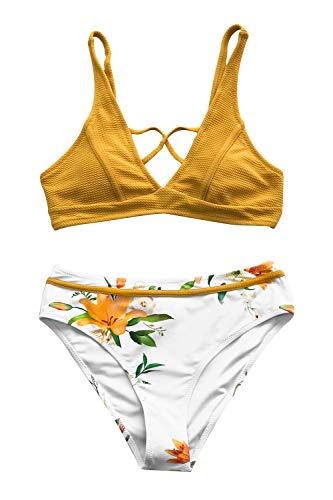 CUPSHE Sonnige Bucht Floral Bikini, M -