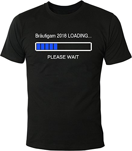 Mister Merchandise Herren Men T-Shirt Bräutigam 2018 Loading Tee Shirt bedruckt Schwarz