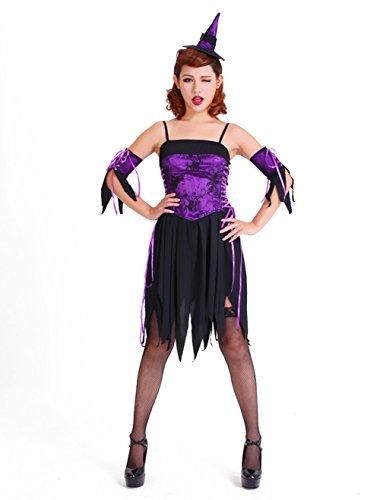 TYERY Lila Freches Nette Hexe Kostüm,Lila,One (Kostüme Freche Seemann)