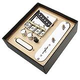 Sharplace Cromato Ponte A 3 Selle Con Pickup Per Parti Di Chitarra Elettrica Per Telecamere Parafango
