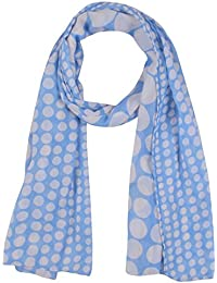 SCURF CORNER Women's Cotton Dupatta (White & Sky Blue)