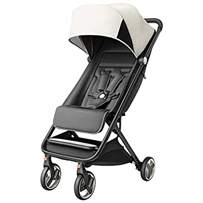 Baby carriage ☝YEC Lightweight Stroller, Large Storage Basket, Class A Fabric Washable Pram-6.8kg (color : GRAY)