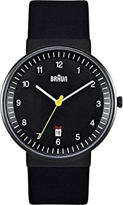 Braun BN0032BKBKMHG - Reloj analógico de caballero de cuarzo con correa de acero inoxidable
