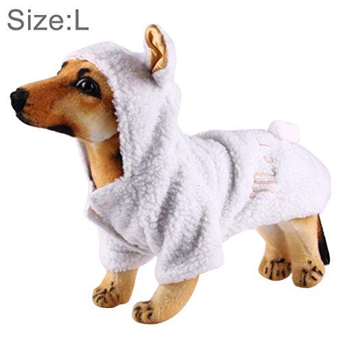 jdon-pet, Schaf-Art-Berber-Vlies-nette Haustier-Kleidung für Hunde, Größe: Groß, 48cm x 31cm ( SKU : Hc7615a ) (Berber-kleidung)