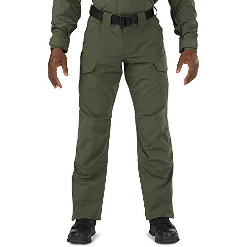5.11 Tactical Herren Stryke TDU Flex-Tac Ripstop Arbeitshose, Teflonbeschichtung, Knieschützer Ready, Style 74433, Herren, TDU Green, 36Wx28L -