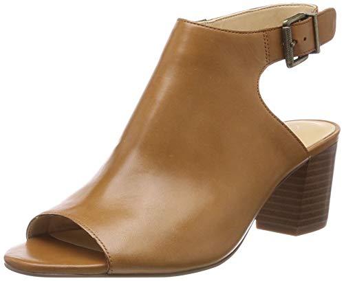 Clarks Deloria Gia, Sandali con Cinturino alla Caviglia Donna, Marrone (Tan Leather -), 40 EU