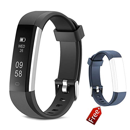 Fitness Armband JIUXI Wasserdicht IP67 Fitness Tracker Armbanduhr Aktivitätstracker Smartwatch mit Schrittzähler Kalorienzähler Schlafmonitor Anruf Nachricht Benachrichtigung für Kinder Frauen Männer