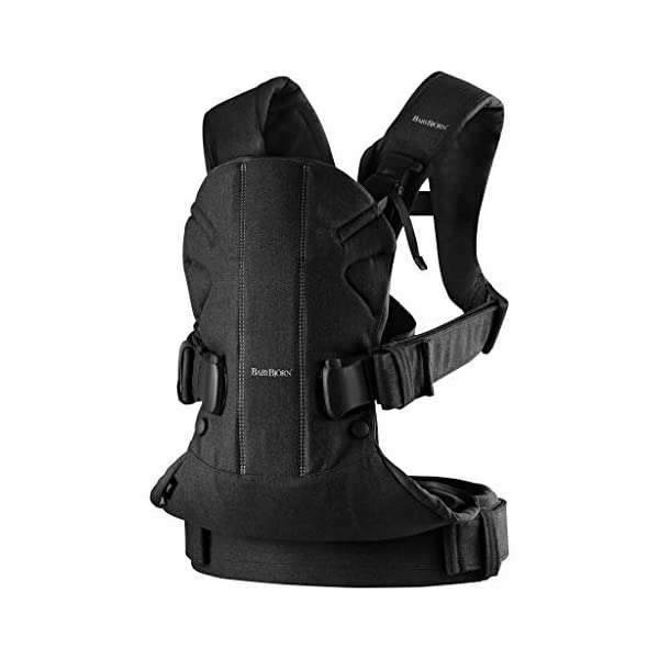BABYBJÖRN Baby Carrier One, Cotton Mix, Black, 2018 Edition Baby Bjorn The latest version with soft and breathable mesh that dries quickly Ergonomic baby carrier with excellent support 4 carrying positions: facing in (two height positions), facing out or on your back 12
