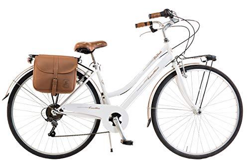 6153996ec4d Via Veneto by Canellini Bicicleta Bici Citybike CTB Mujer Vintage Retro Via  Veneto Acero (Blanco