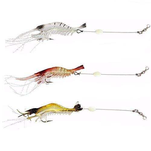 NewShot Luminous Souple crevettes Leurre de pêche Doux...