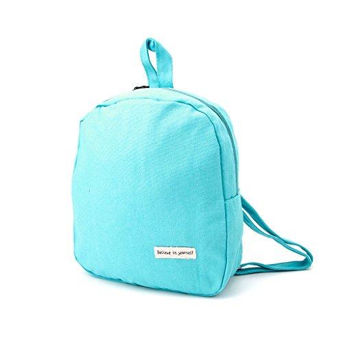 Dairyshop zaino donna Sacchetto scolastico della scuola zaino quadrato semplice delle donne modo (Cielo blu) Verde