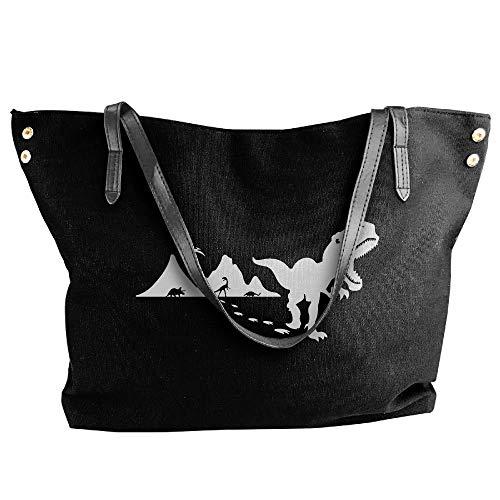 sghshsgh Umhängetaschen,Damenhandtaschen, Women's Dinosaurs T-Rex Graphics-1 Canvas Shoulder Bag Handbags Tote Bag Casual Travel Bags