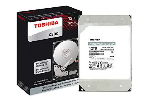 Toshiba X300 Desktop Interne Festplatte (8,9 cm (3,5 Zoll), SATA, 6 Gbit/s, 7.200 U/min) 12TB