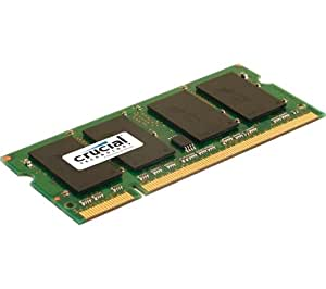 Crucial CT25664AC800 PC800 Notebook Arbeitsspeicher 2GB (800 MHz, SO DIMM 200-polig) CL6.0 DDRII