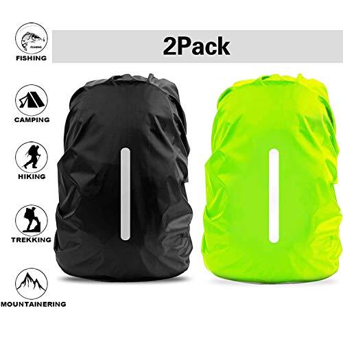 Regenschutz für Rucksack | Rucksack Regenschutz | Regenhülle Rucksack |Wasserdichter Regenschutz Ranzen Rucksackschutz für Outdoor Camping Wandern mit Reflektorstreifen Sicherheitshülle(30L-40L)