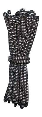 Lacets Ronds pour bottes Noir et Blanc 4mm diametre Longueur 110cm