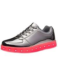 [Present:kleines Handtuch]Silber 36 EU JUNGLEST(TM) Turnschuhe JUNGLEST Sneaker 7 Herren Farbe Aufladen LED für Schuhe USB weise Damen Unisex-Erwachs