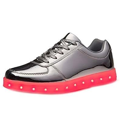 (Present:kleines Handtuch)Silber EU 41, leuchten Schuh Lade athletische JUNGLEST® Paar Turnschuh U
