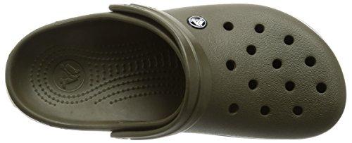 crocs Unisex-Erwachsene Crocband Clogs Dark Camo Green/Stucco