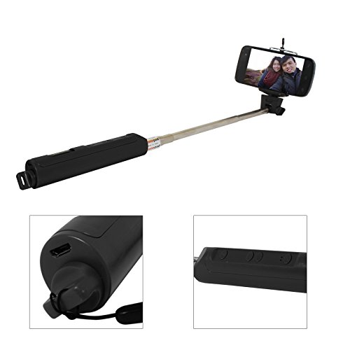 DMG Extendable Selfie Stick With In-Built Bluetooth and Photo Zoom for Apple iPhone / Android Mobiles / Cameras