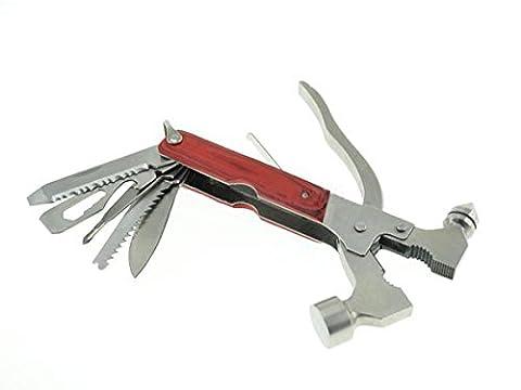 System-S Camping-Multi-Tool Werkzeug Mini Hammer Zange Schraubenschlüssel Säge Messer