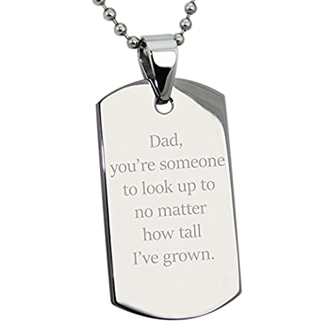 Stainless Steel Special Dad Inspirational Words Engraved Dog Tag