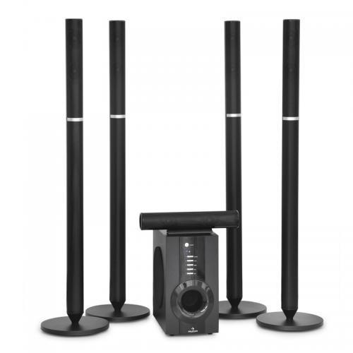 Auna aktives 5.1 Heimkino Surround Lautsprechersystem 100W RMS schwarz
