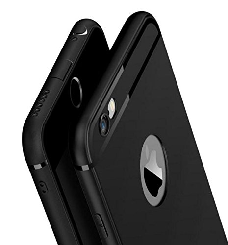 iPhone 5 / 5S / SE Cover- Amozo® Soft Silicone with Anti Dust Plugs Shockproof Slim Back Cover Case For Apple iPhone 5 / 5S / SE - Black