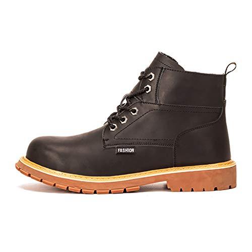 ZYFXZ Sicherheitsschuhe Winter wasserdichte Leder Stahlkappe Hoch-Spitze Sicherheitsschutz Gelegenheitsarbeit Schuhe, for BAU/Schweißer/Trekking Arbeitsschuhe (Color : A1, Size : 45)