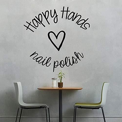 wlwhaoo Schönheit Hände Nagel Worte dekorative Aufkleber wasserdicht Wohnkultur für Kinderzimmer Dekoration Wandkunst weiß M 28cm x 28cm (Halloween Namen Wörter Und)