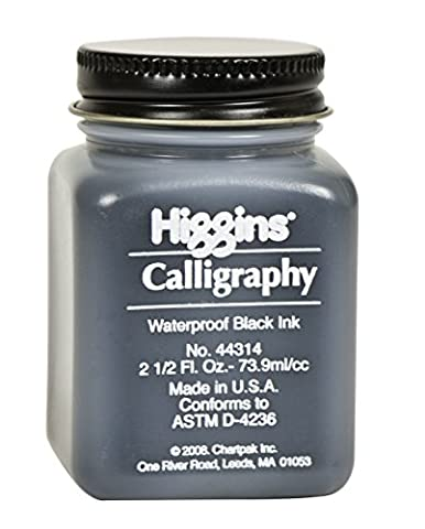 Higgins - 44314 - Encre de calligraphie résistance à l'eau, noir, 60ml
