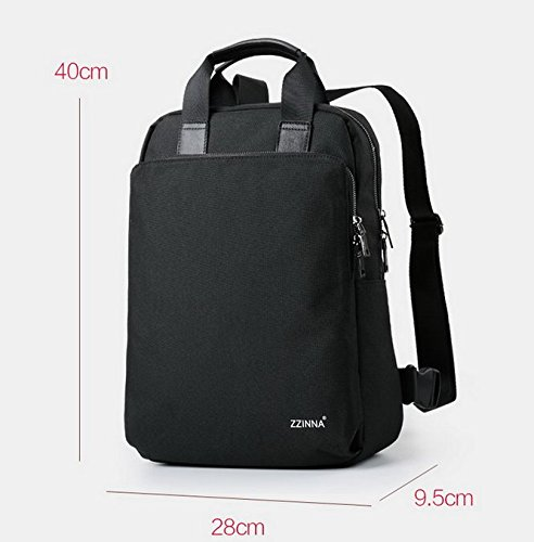 Weben Fringe (Otomoll Die 14 Zoll Notebook Computer Portable Travel Business Aktenkoffer, Rucksack, Schultasche, Schwarz)