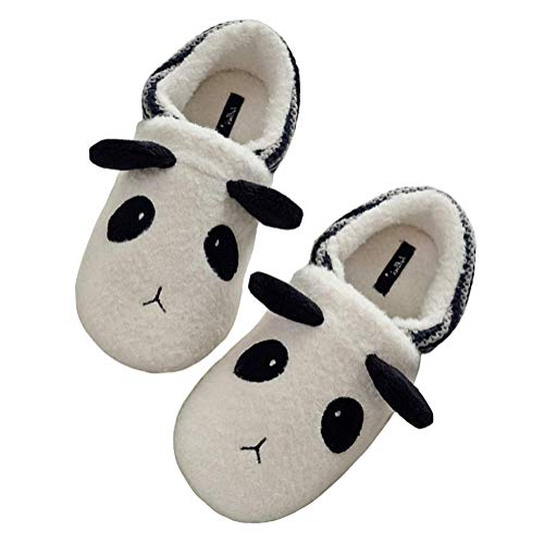 Tomwell Women Slippers Winter Warm Soft Comfy Fluffy Memory Foam Non Slip Sole Cute Animals Cartoon Flat Shoes Indoor Outdoor Slipper