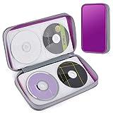 Custodia CD, Tinksky Borsa Porta CD/DVD Custodia Protettiva Portatile di Plastica Rigido Disco per 80 Disco